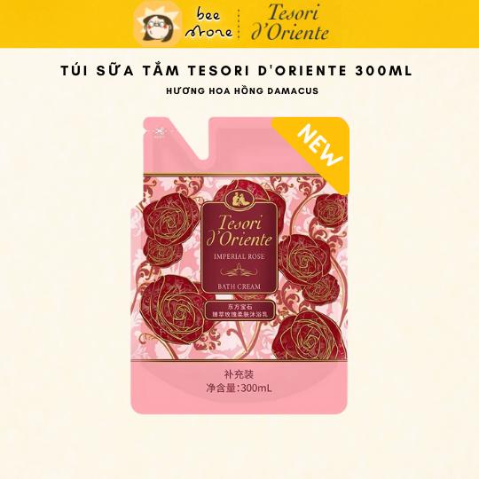 Túi sữa tắm nước hoa trắng da - Sữa tắm xích hương nước hoa 300 ml - Hương hoa hồng Damacus/Hương hoa Xạ Hương trắng